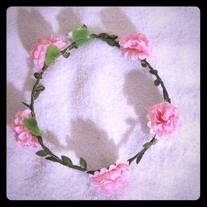 Light up Pink Flower Crown